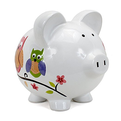 Child to Cherish Piggy Bank, Owl, Large