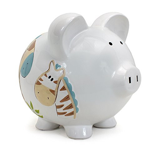Child to Cherish Piggy Bank, Jungle Jack, Large