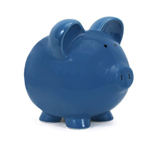 Child To Cherish Dark Blue Piggy Bank