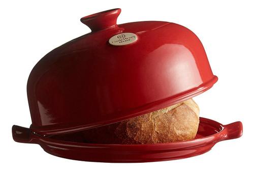 "Emile Henry Flame Bread Cloche, 13.2 x 11.2"", Burgundy"