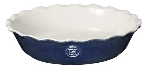 "Emile Henry HR Modern Classics Pie Dish, 9"", Blue"