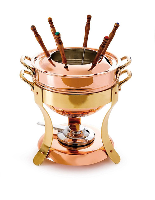 Mauviel M'Tradition 2719.01 Tinned Copper Fondue Pot