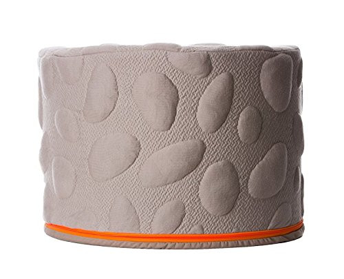 Nook Sleep Systems Soft Organic Pebble Pouf with Liquid-Resistant Wrap Cover (Misty)