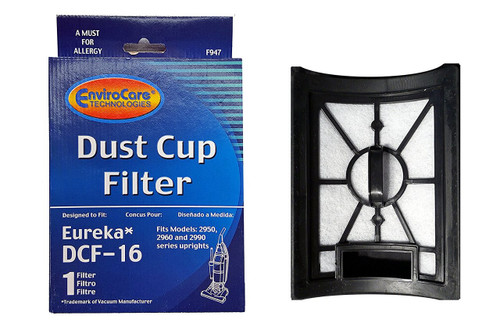 (1) Eureka Style DCF 16, Hepa W/activated Charcoal Filter Dust Cup Vacuum Cleaner, Altima Bagless, SurfaceMax, Uno Upright, 62736A, 20232462, 20-2324-62, 76552, E-62736