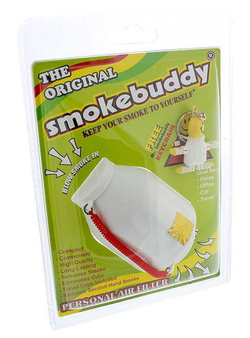 1 X White Smoke Buddy - Personal Air Purifiery and Odor Diffuser