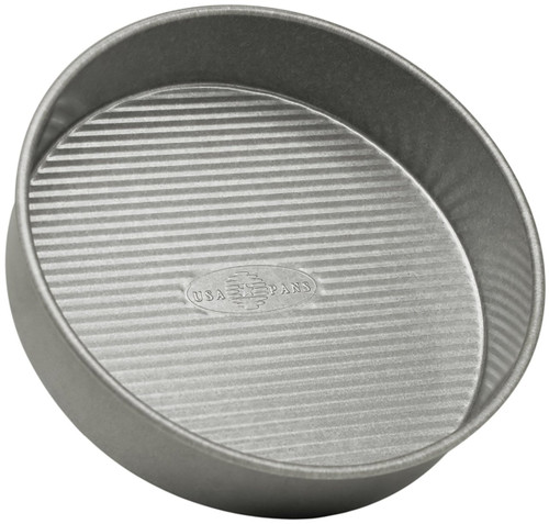 USA Pan Bakeware Aluminized Steel Round Cake Pan, 8-Inch