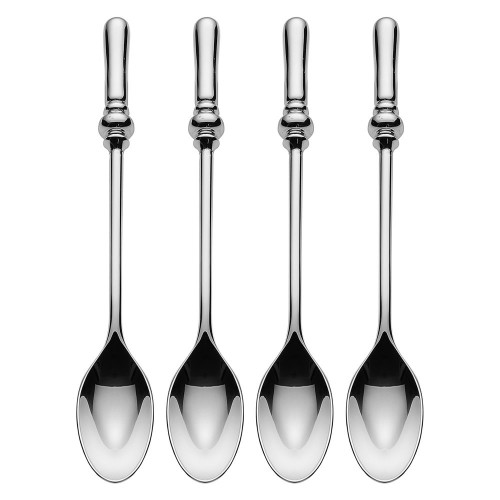 """Alessi """"Dressed"""" Set Of Four Tea Spoons in 18/10 Stainless Steel Mirror Polished, Silver"""