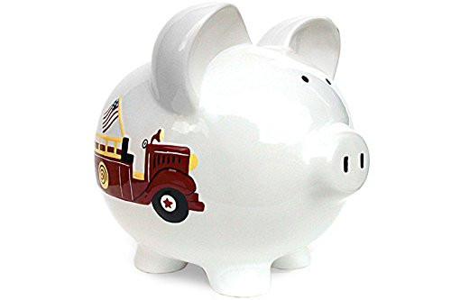 Child to Cherish Piggy Bank, Fire Truck