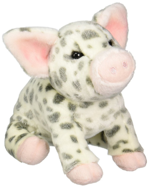 """Pauline Spotted Pig Plush Toy 10"""" H"""