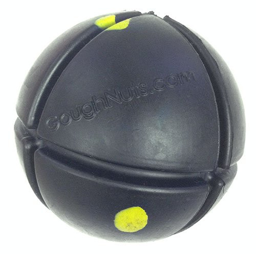 Goughnuts - Interactive Chew Toy for Dogs - Ball Black 50 (Toughest Ball)