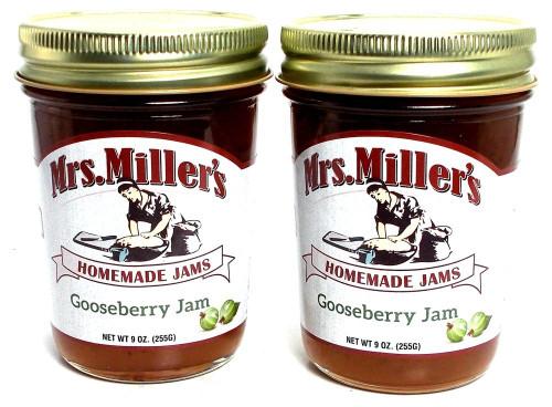Mrs. Miller's Amish Homemade Gooseberry Jam, 8 oz - Pack of 2