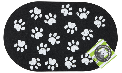 ORE Pet Recycled Rubber Jumbo Paws Placemat