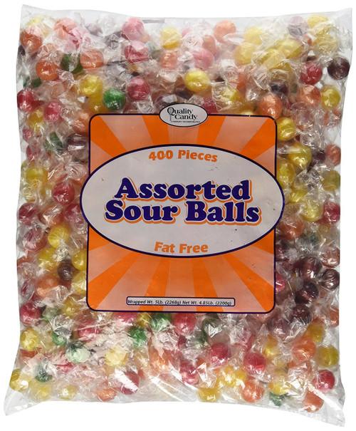 Sour Fruit Balls Candy 5LB Bag