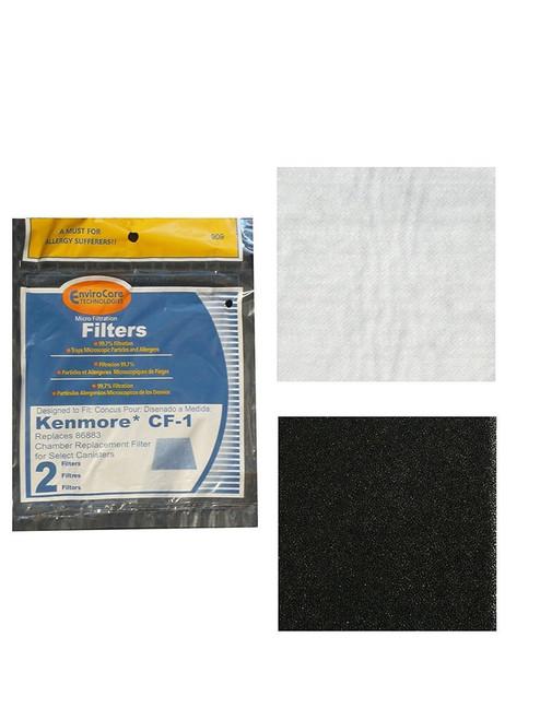 (4) Kenmore Sears Progressive Foam Filter CF1, Progressive & Whispertone, Panasonic Vacuum Cleaners, 86883, 86880, 20-86883, 2086883, 8175084