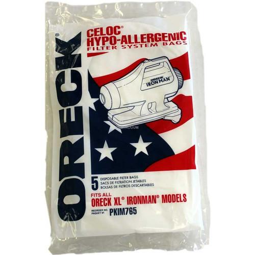 Oreck Ironman Vacuum Bags# IM76-5 - Genuine - 5 Pack