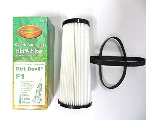 2) Dirt Devil Style 4&5 belts & 1) f1 filter