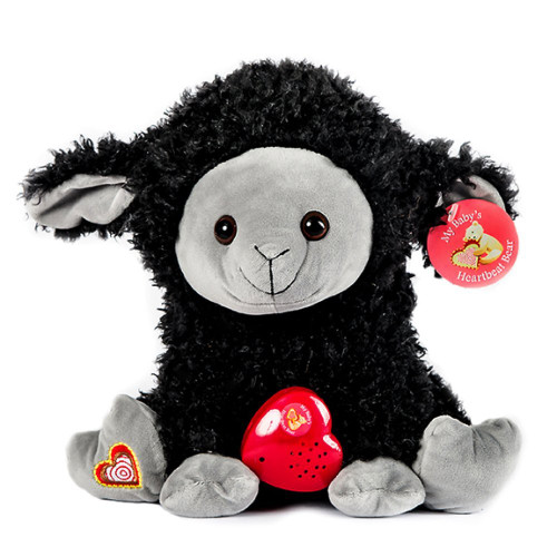 Mbhb Black Sheep Stuffed Animal W 20 Sec Voice Recorder Black