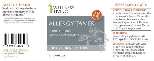 Allergy Tamer Formula The Wellness Living Store
