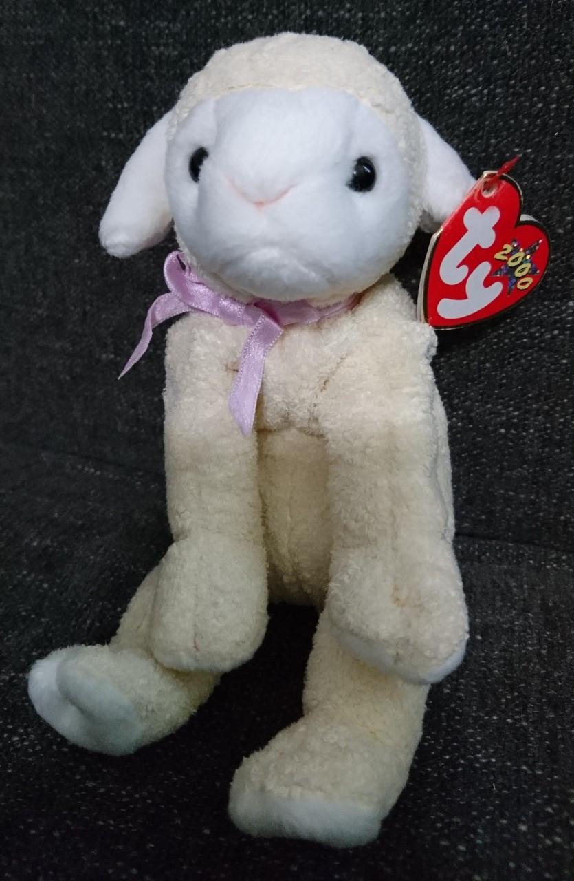 cfc32385e47 TY - Beanie Babies - Fleecie - Lamb - Cream Color - Errors - Pre-Owned -  Treasure Website