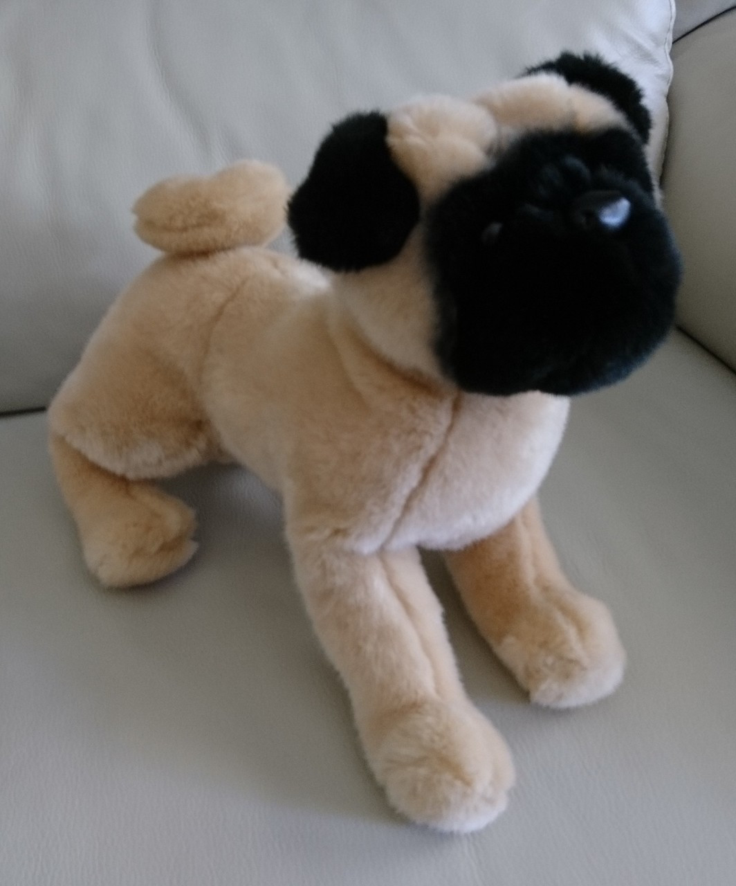 Realistic Pug Stuffed Animal, Pug Dog Stuffed Animal Douglas Cuddle Toy Realistic Look Plush Tan And Black 12 Pre Owned Treasure Website