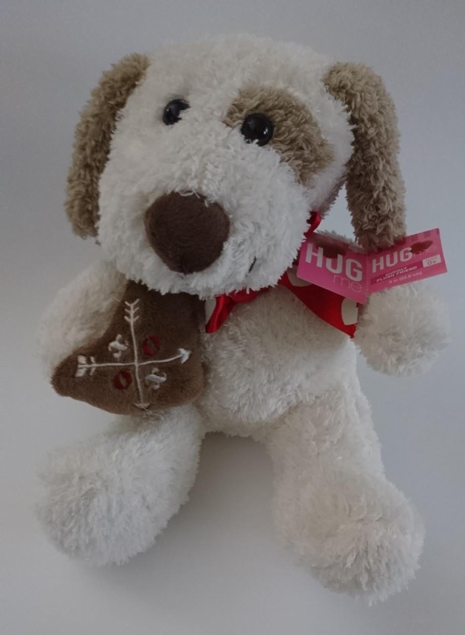 Blue Big Teddy Bear, Dog Plush Hugfun Valentines Day Stuffed Animal Holding Heart 9 Pre Owned Treasure Website