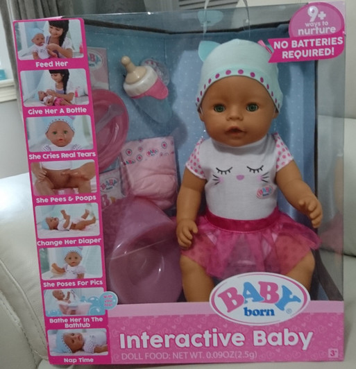 d2bf87f699b Baby Doll - Baby Born Interactive Baby with Accessories - Green Eyes - Zapf  Creation - BRAND NEW IN BOX