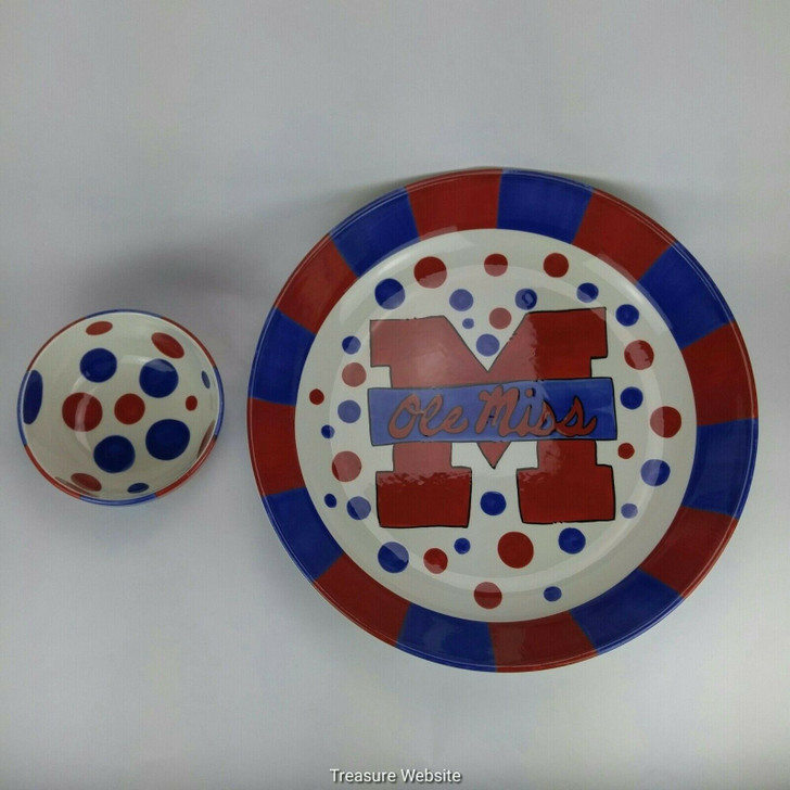 T Cabells Too Ole Miss Rebels Chip and Dip Set