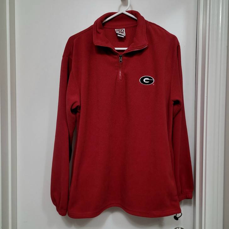 Georgia Bulldogs Men's 1/4 Zip Pullover - Red with G Logo - Size M