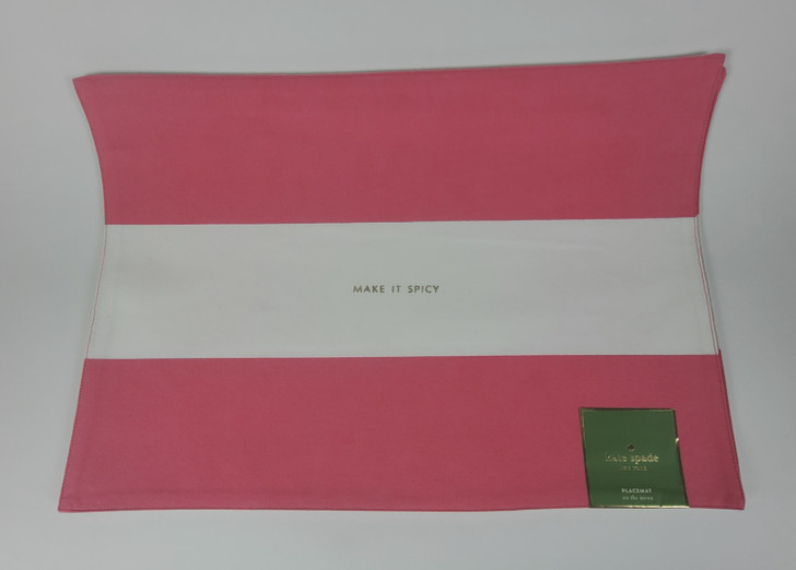 Kate Spade Table Linens - Specialty Placemats - Pink and White Stripe - Set of 3 - NEW