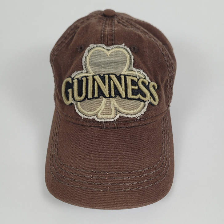 Guinness Ball Cap - Brown Distressed - 100% Cotton - Official Merchandise