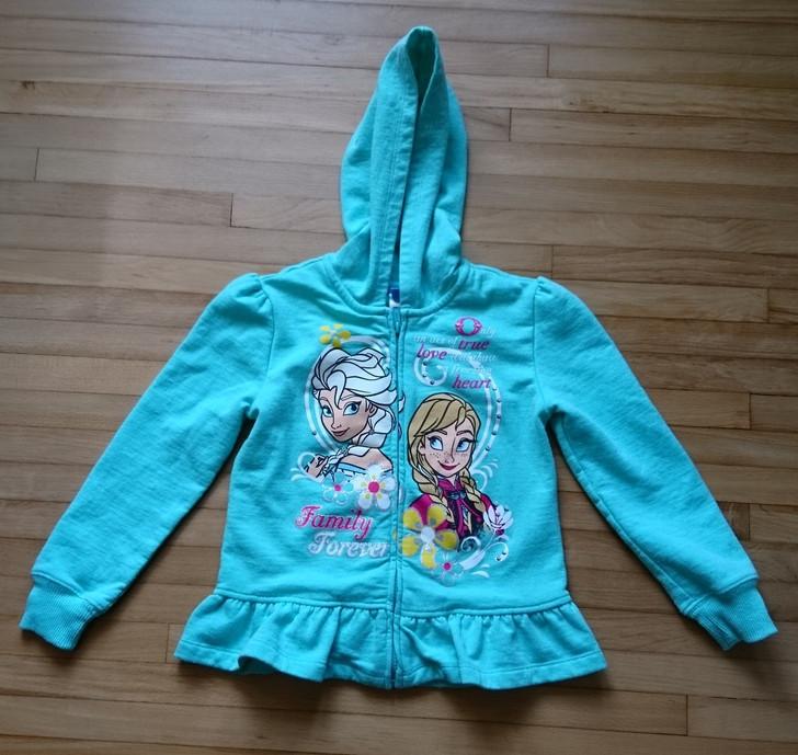 Girls' Hoodie - Size 6X - Disney's Frozen - Zip Front - Seafoam Green - Pre-Owned