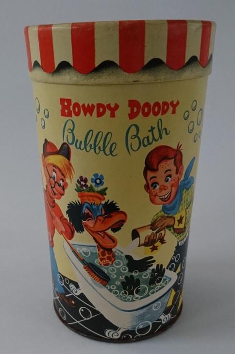 Vintage Howdy Doody Bubble Bath 1950s - Powder Soap - Un-used Original Container - RARE FIND!