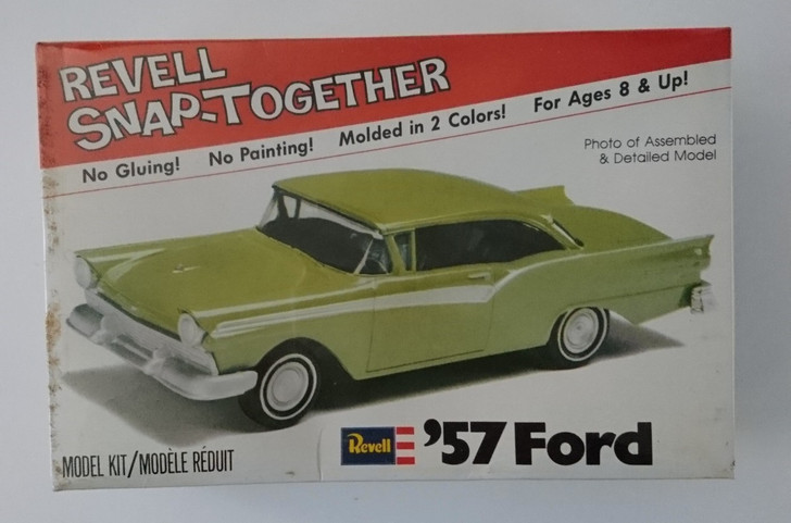 Vintage Revell '57 Ford Fairlane 500 Snap Together Model Kit FACTORY SEALED