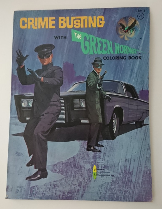Vintage 1966 The Green Hornet Coloring Book #1824-3 NEW Unused Great Condition