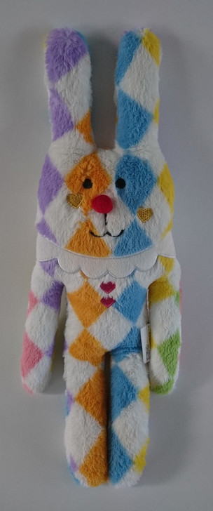 """Craftholic - Bunny Rabbit with Hearts - Multi-Color Whimsical - Valentine's Day - 17"""" - RARE FIND - Pre-Owned"""