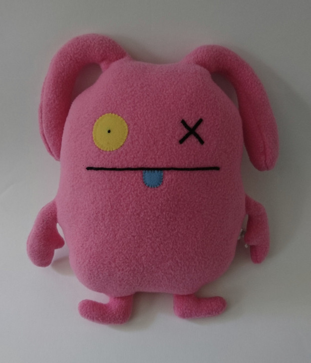 """UGLYDOLL Ox - Plush Stuffed Doll - Pink - 2003 Retired - 11"""" - Pre-Owned"""