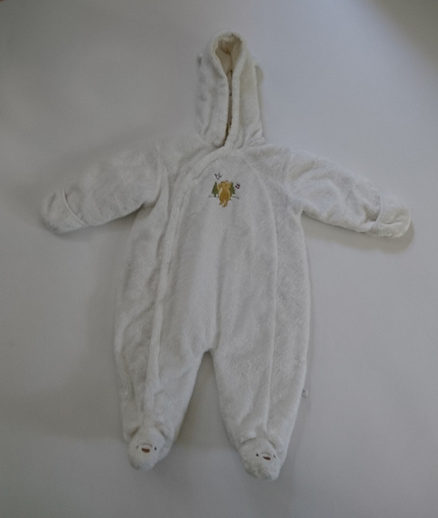 Disney Classic Pooh Baby Bunting Snowsuit - Soft White - 6 Months - Pre-Owned