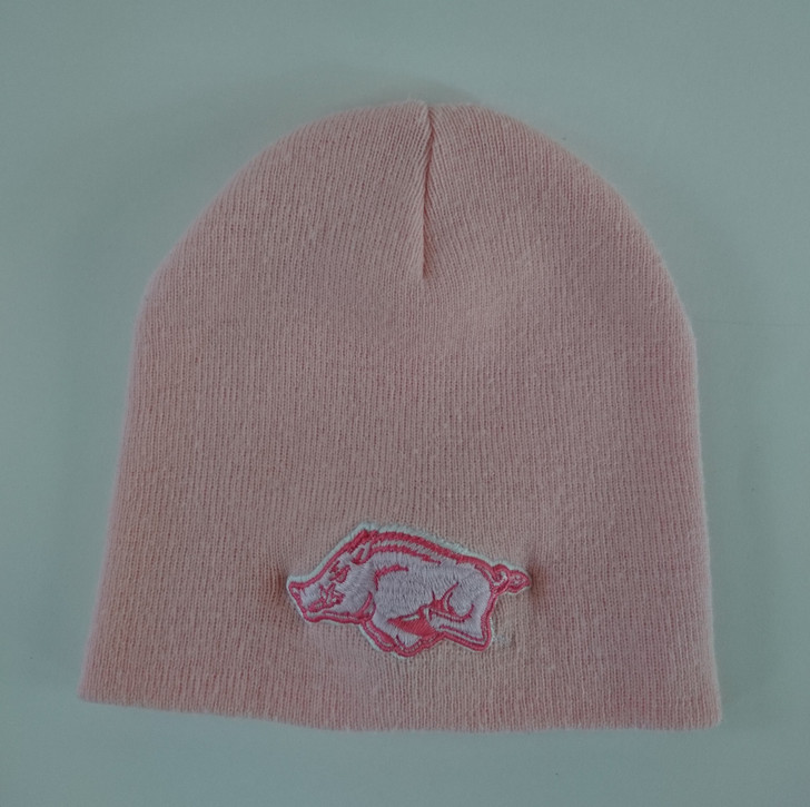 Arkansas Razorbacks Knit Cap Beanie Hat Women's Pink - Pre-Owned