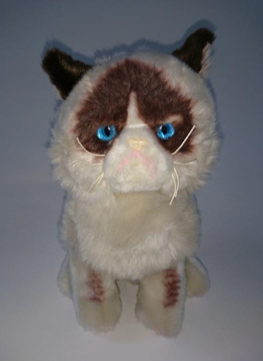 "Grumpy Cat Stuffed Animal - Gund - Brown & White Blue Eyes - 9"" - Pre-Owned"