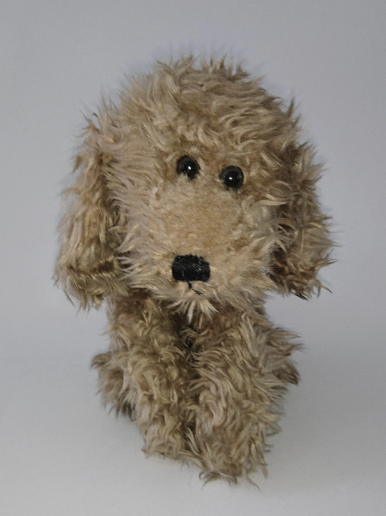 """Dog Stuffed Animal """"Fluppy"""" Russ Berrie - Brown  - 10"""" L - RARE FIND! - Pre-Owned"""