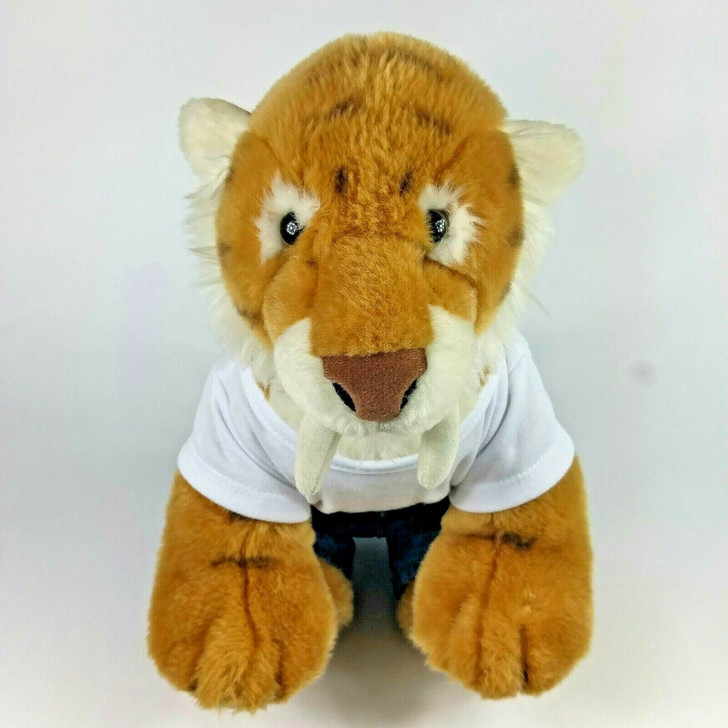 Build A Bear Plush Saber-Toothed Tiger 13″ with jeans and shirt