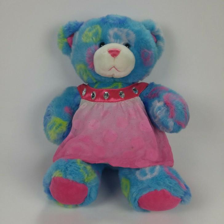 Build A Bear Peace Signs Pink Dress Cute! – Sitting 14″ H