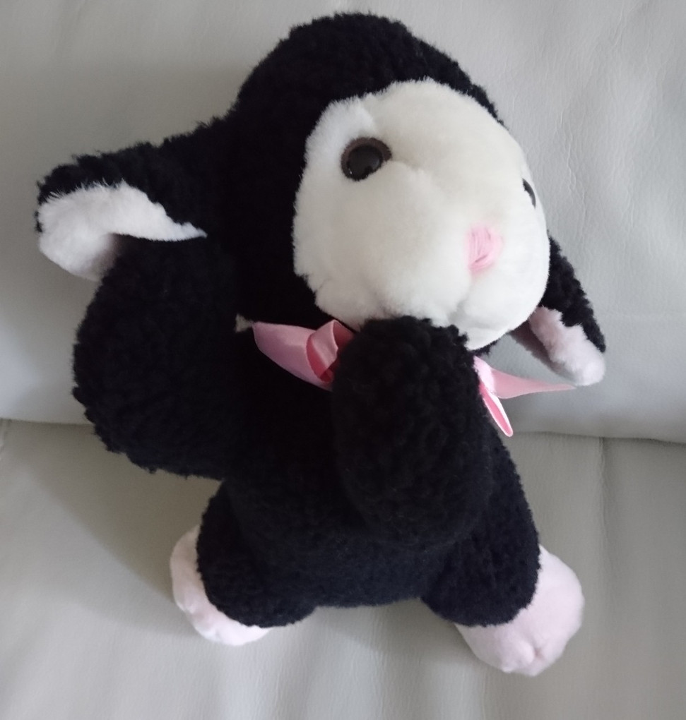 Black Sheep Plush Stuffed Animal Sherpa Pink Bow Around Neck Walmart