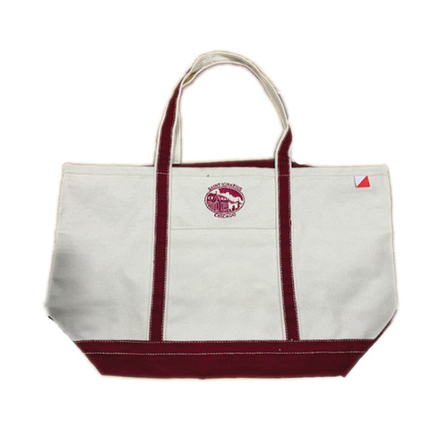 Large Classic Boat Tote  With Zippered Top