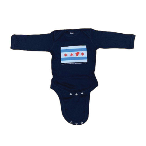 Chicago Flag Baby Onesie