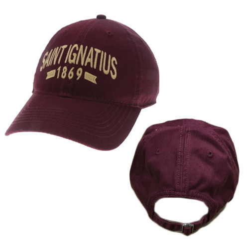 Relaxed Adjustable Hat - MAROON