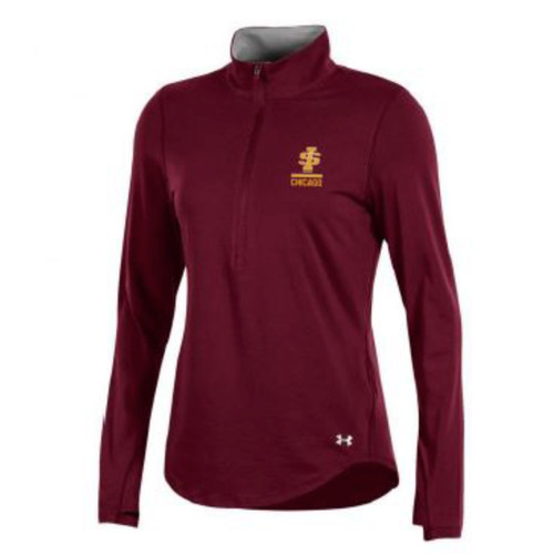 Ladies Under Armour Cotton Charged 1/4 Zip