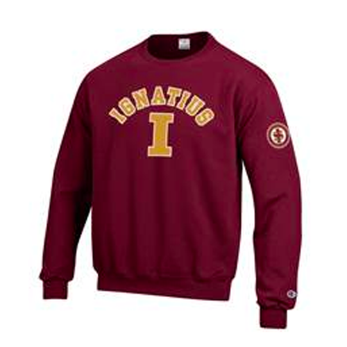 "Varsity ""I"" Crewneck with Arm Patch"