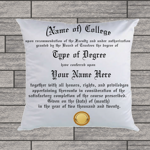 Custom (College) Degree Pillow