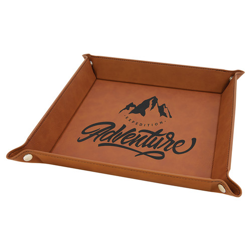 """Leatherette Snap up Tray - 9"""" x 9"""""""